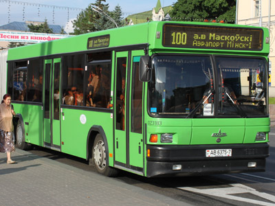 Minsk transportation by Bus Maz bus