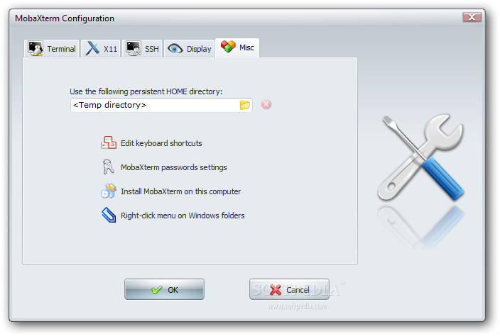 MobaXTerm Microsoft Windows ssh client configuration misc menu screenshot