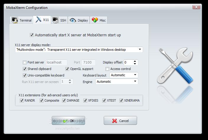 mobaxterm better putty alternative x11 configuration tab screenshot