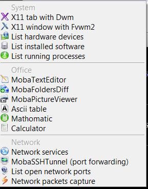 Mobaxterm list of tools various stuff