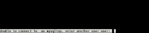 Mtop interactive type in username and password screenshot on FreeBSD 7.2