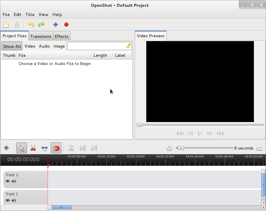 openshot running on Debian Wheezy Linux create video from pictures