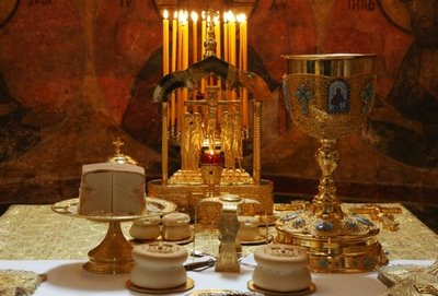 Holy Eucharist Cup, Bread and Wine