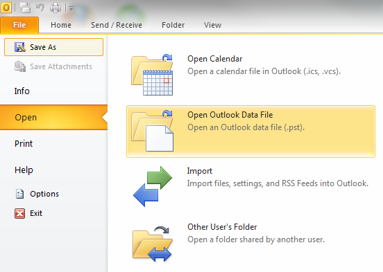 outlook-open-backupped-pst-datafile-archive-importing-to-outlook-2010