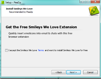 peazip install screenshot get the free smileys we love extension screenshot