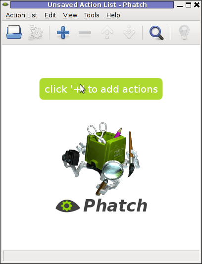 Phatch Linux Debian Squeeze Screenshot