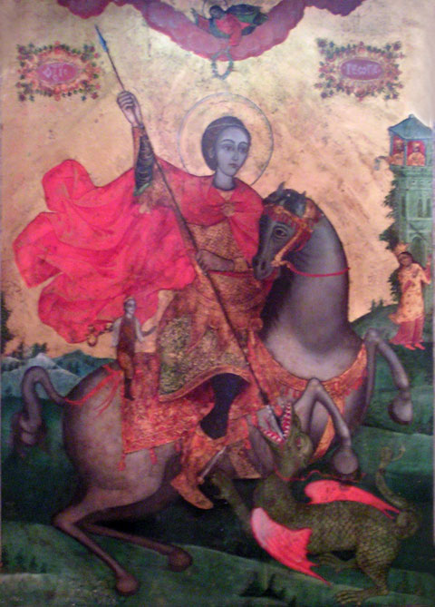 Pomorie Monastery st. (George) Georgi miraculous craeting icon of saint George