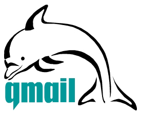 Qmail redirect mail box to another one with .Qmail file dolphin artistic logo