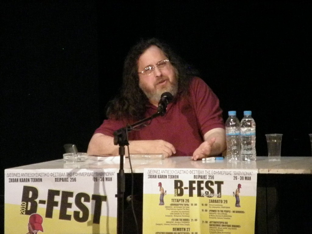 Richard Stallman on a Free Software Conference