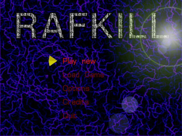 Rafkill raptor like native Linux game main menu screenshot Debian GNU / Linux Squeeze