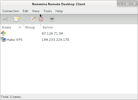 Remmina Linux remote vnc connect best software gui frontend screenshot