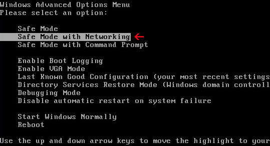 safemode_with_networking_windows-PC-boot-option-screen-screenshot