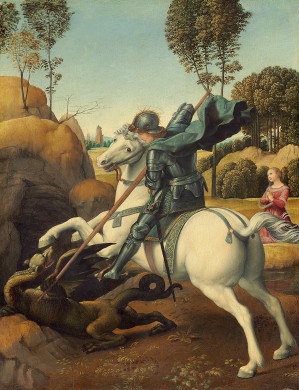 saint George and the Dragon Raphael painter painting year 1506