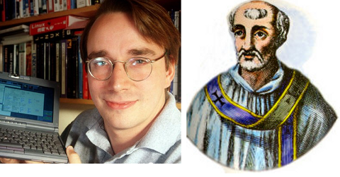 Saint Linus and Linus Torvalds creator of GNU Linux kernel