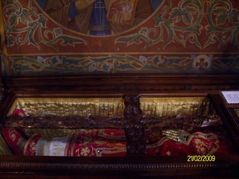 Saint Serbian King Milutin  Holy relics as kept in Saint Nedelia Church Sofia Bulgaria