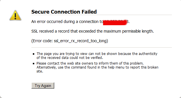 secure-connection-failed-an-error-occured-during-connection-ssl-received-a-record-that-exceeds-the-maximum-permissible-length-fix-howto