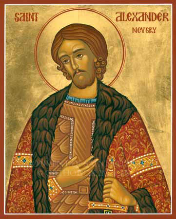 st Alexander Nevsky orthodox icon