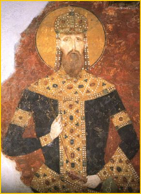 Saint Stephan Milutin II Holy King of Serbian with Inoccuptable Body testimony for Truthfulness of Holy Christian faith