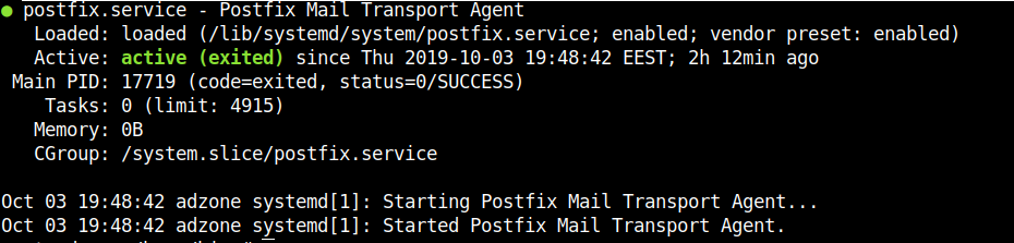 systemctl-postfix-status-on-debian-linux-screenshot