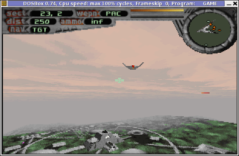 Terminal Velocity game screenshot dosbox GNU / Linux