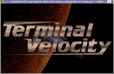 Terminal Velocity Screenshot Debian GNU / Linux 6.0 Squeeze Dosbox dos emulator