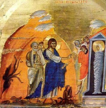 The Resurrection of Lazarus Orthodox Icon Sinai