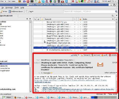 Thunderbird screenshot with e-mail message pane