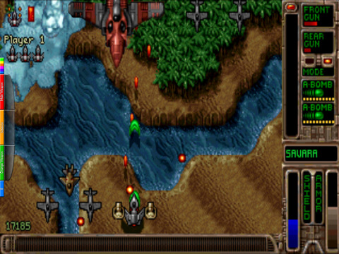 Absolute Game Classics Tyrian native game play with dosbox Linux screenshot
