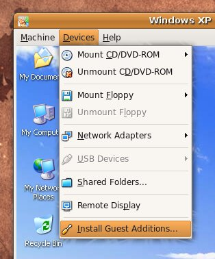 VirtualBox Install Guest Additions Ubuntu Screenshot