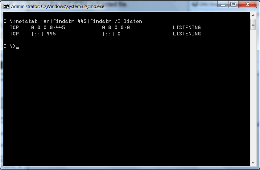 Windows Linux grep equivalent command findstring findstr screenshot  microsoft windows 7