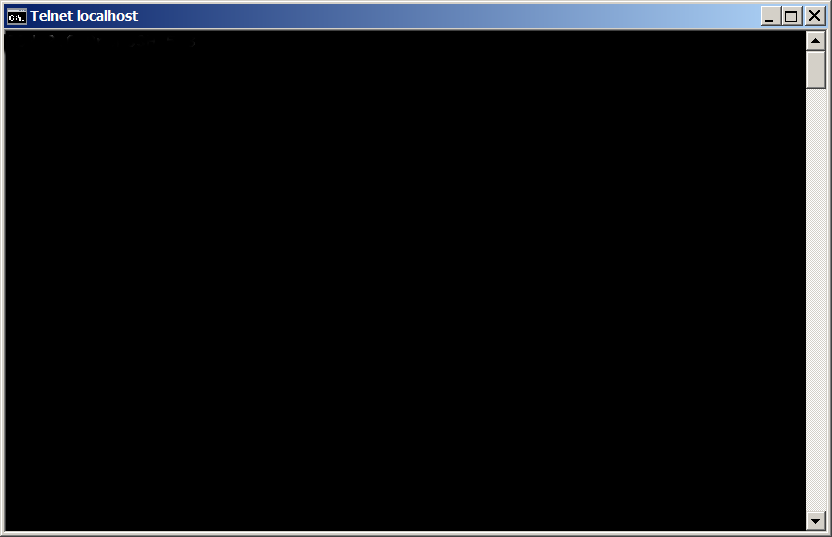 windows-testing-whether-ssh-tunnel-is-working-with-telnet-screenshot-black-screen