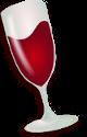 wine emulator logo install wine on Debian GNU / Linux