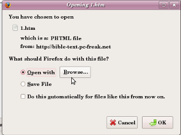 you have choosen to open ... which is a PHTML file