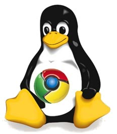 Linux Tux Google Chrome